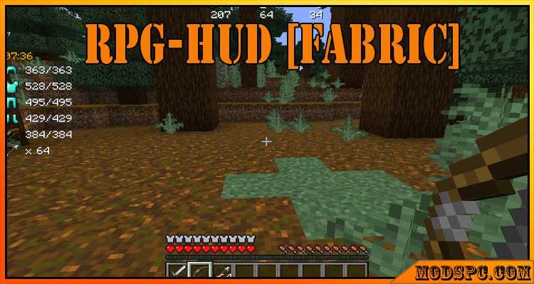 RPG-Hud [Fabric] Mod 1.16.5/1.15.2/1.14.4